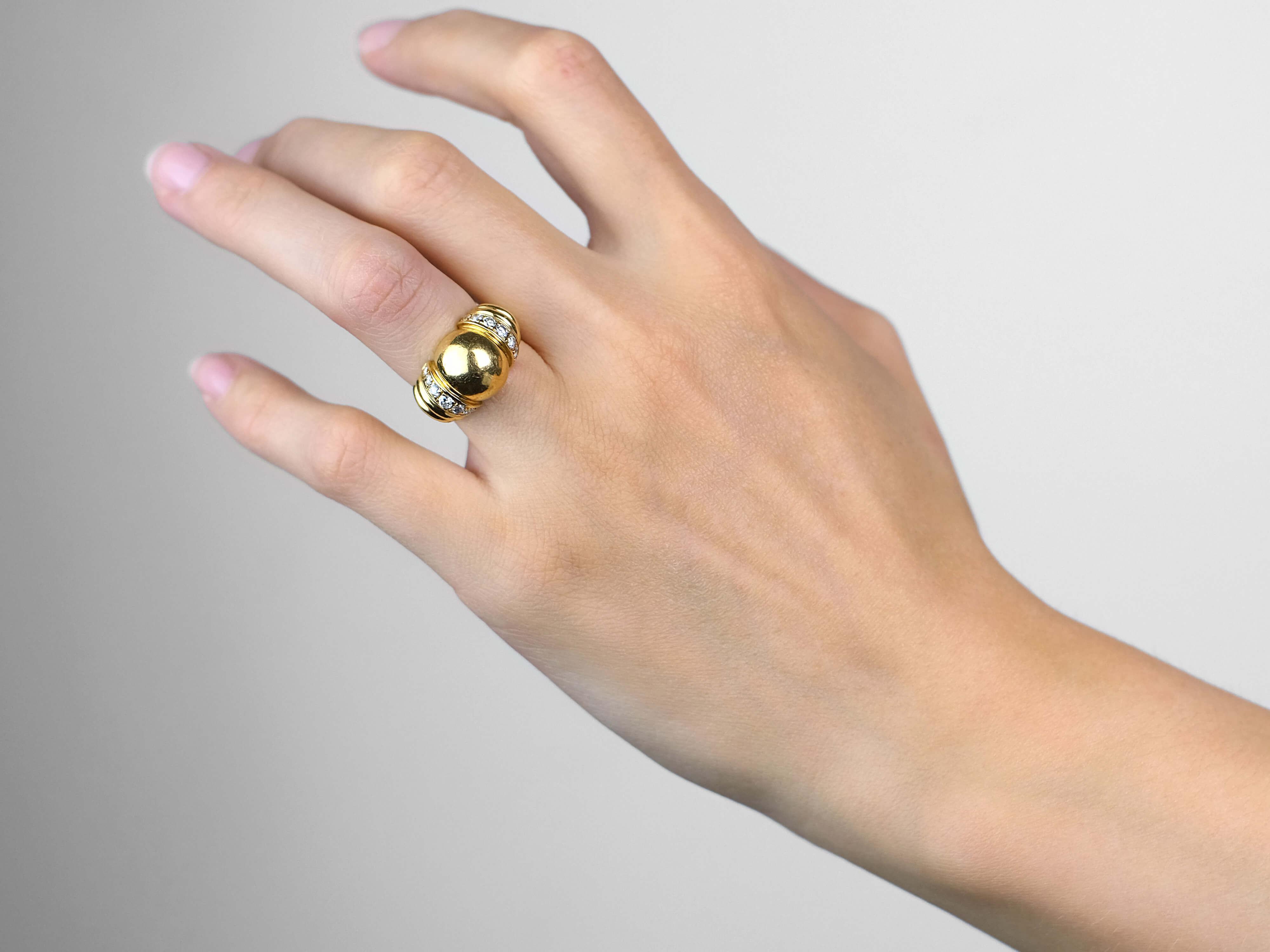 Vintage 18ct Gold & Diamond Ring by Boucheron