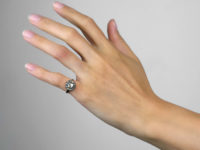 15ct Gold Rose Diamond Cluster Ring