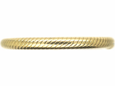 Georgian 15ct Gold Split Ring Band