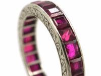 Art Deco Platinum & Ruby Eternity Ring