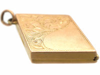 Edwardian 9ct Gold Diamond Shaped Locket