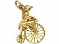 9ct Gold Penny Farthing Charm