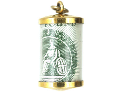 9ct Gold One Pound Note Charm