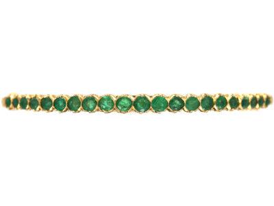 Art Deco 18ct Gold & Emerald Bangle