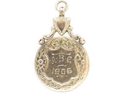 Edwardian 9ct Gold ABC Medallion Pendant