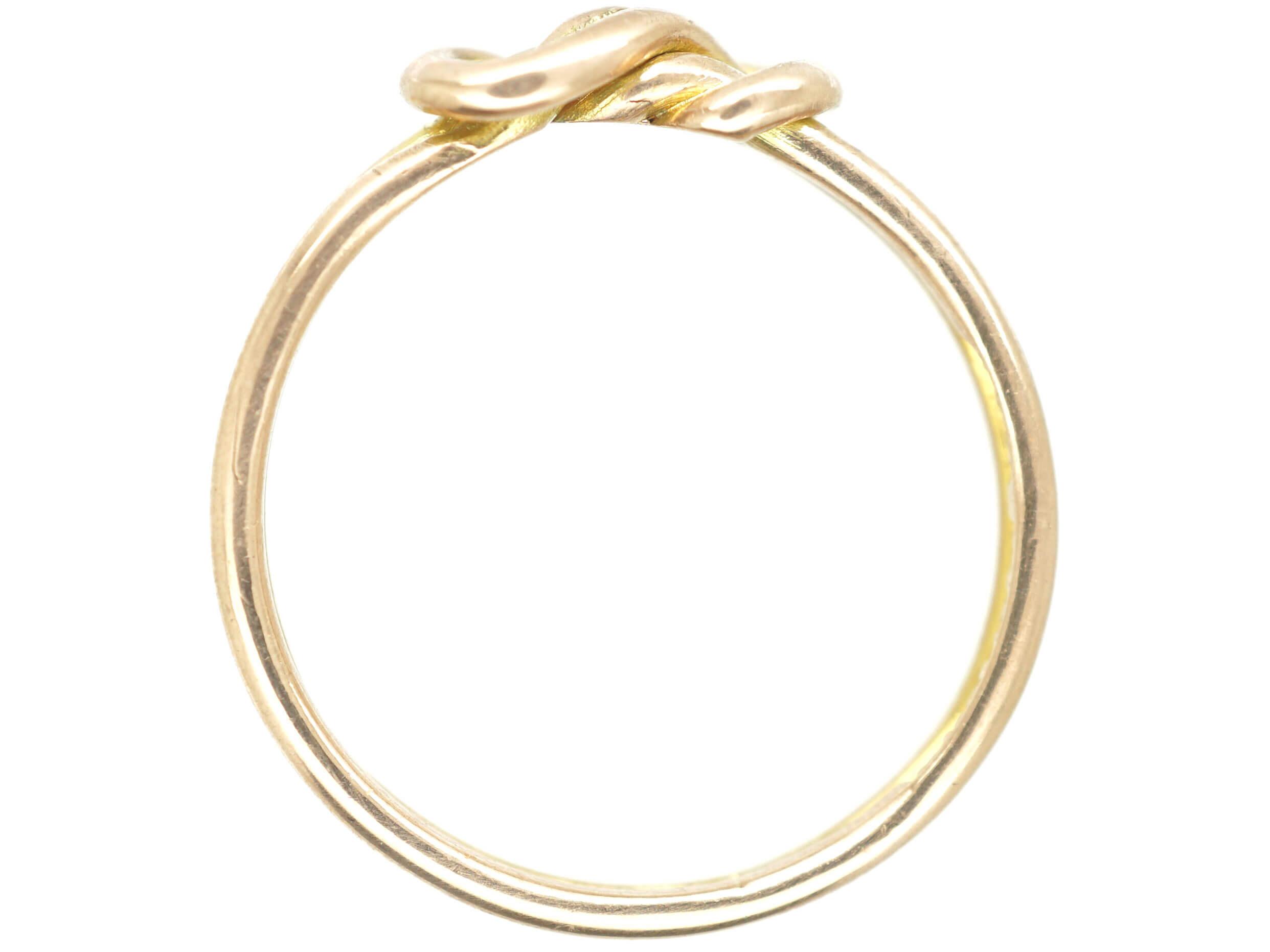 Edwardian 9ct Gold Knot Ring