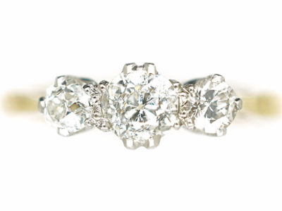 18ct Gold & Platinum Three Stone Diamond Ring