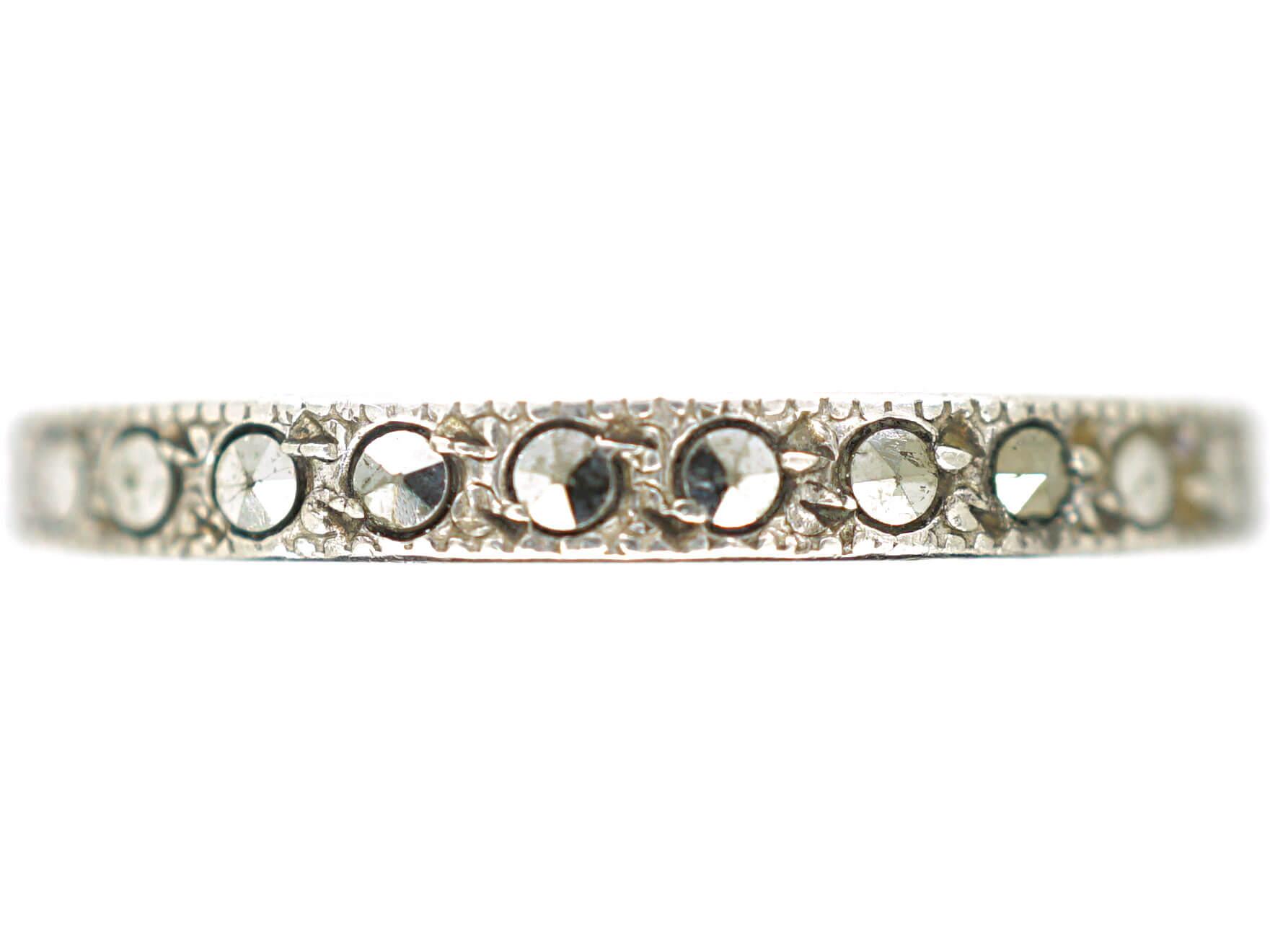 Art Deco Silver & Marcasite Eternity Ring
