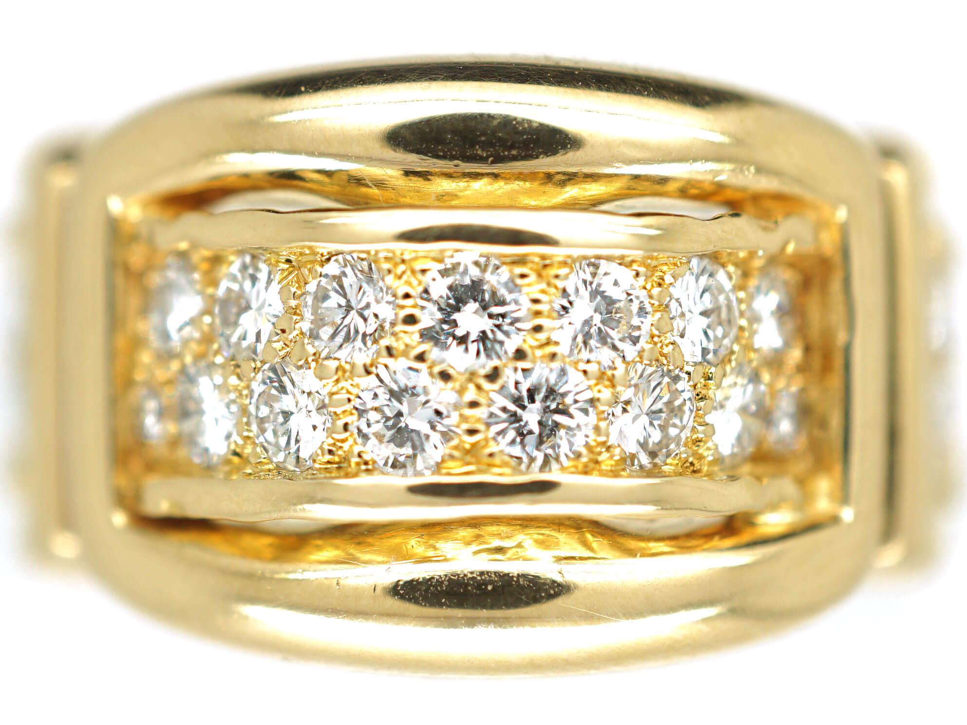 18ct Gold & Diamond Ring by Asprey of London