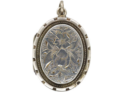 Victorian Silver Oval Locket