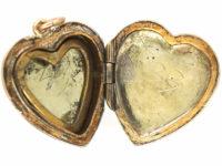 9ct Back & Front Heart Shaped Locket