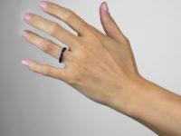 Art Deco 18ct White Gold Sapphire Eternity Ring