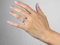 18ct White Gold & Diamond Narrow Eternity Ring
