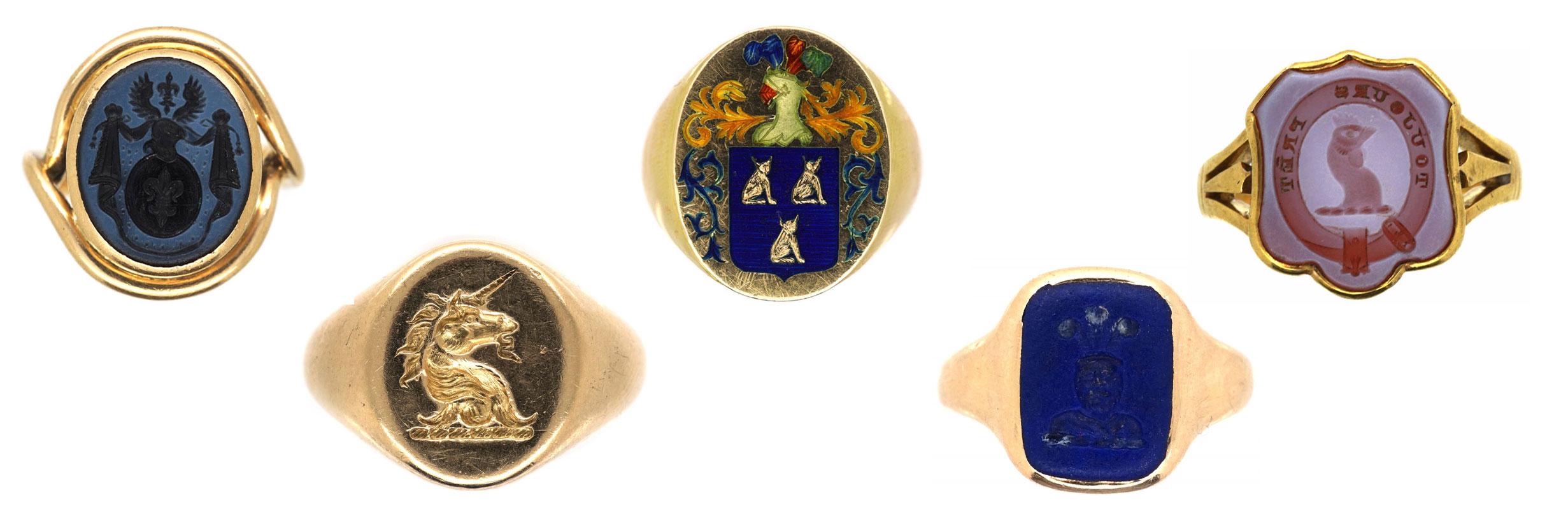 Antique signet rings