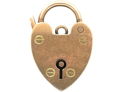 Edwardian 9ct Rose Gold Padlock