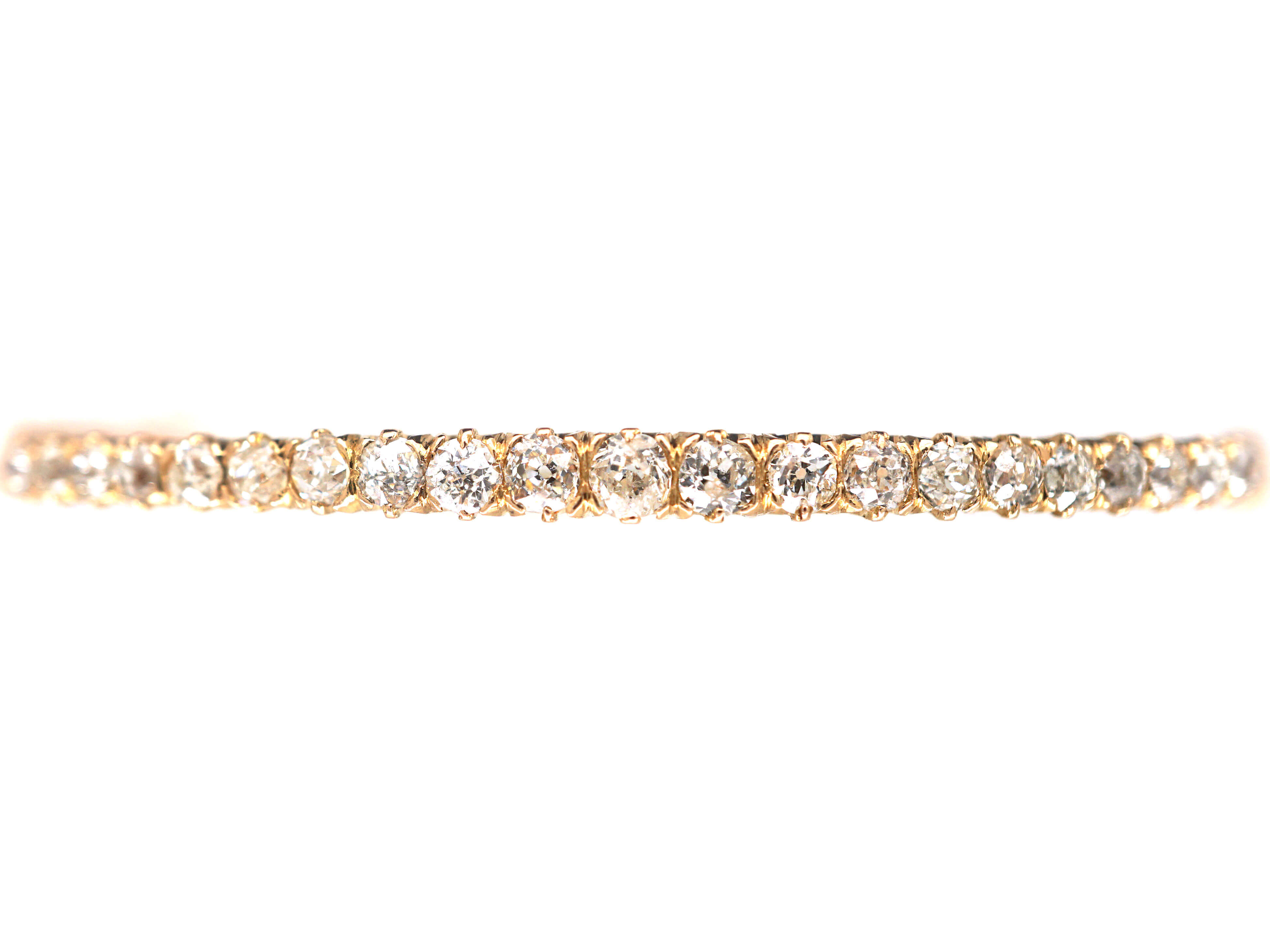 18ct Gold & Diamond Narrow Bangle