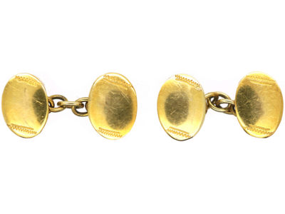 Victorian Small Child's 18ct Gold Cufflinks