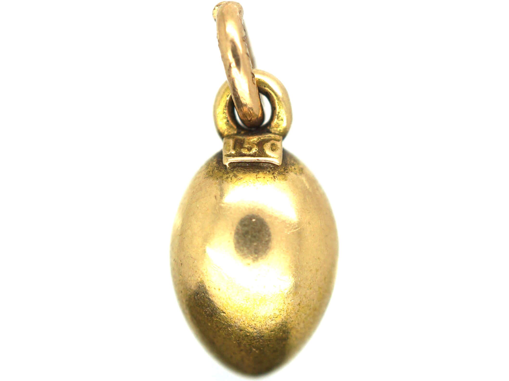 Edwardian 15ct Gold Egg Pendant