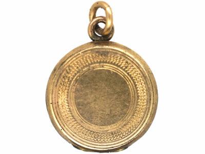 Edwardian Round 9ct Gold Plated Locket