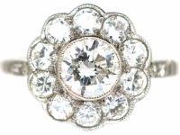 Platinum & Diamond Daisy Cluster Ring