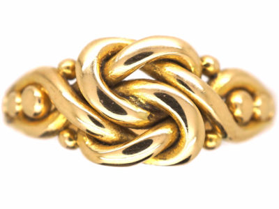 Edwardian 18ct Gold Knot Ring
