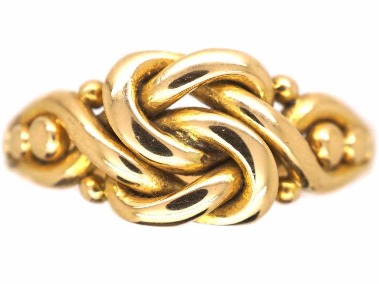 Edwardian 18ct Gold Knot Ring