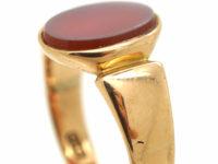 Victorian 12ct Gold & Carnelian Signet Ring