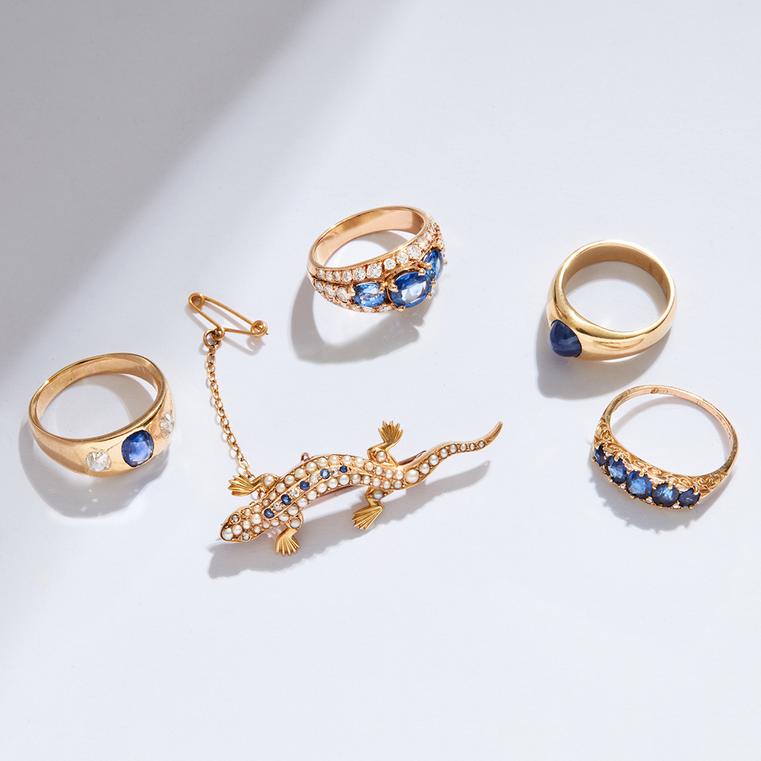 Antique sapphire jewellery