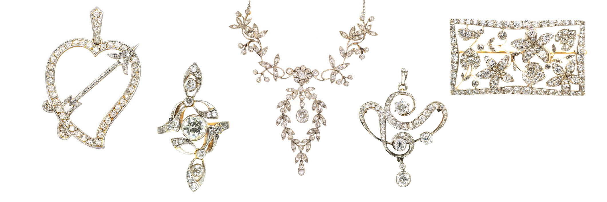 Edwardian filigree jewellery