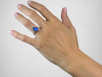 Art Deco Opal Doublet & Diamond Ring