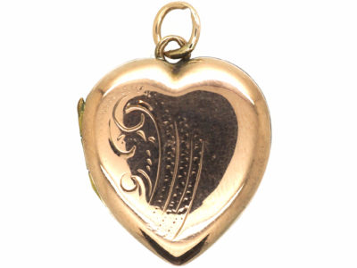 9ct Back & Front Heart Shaped Locket