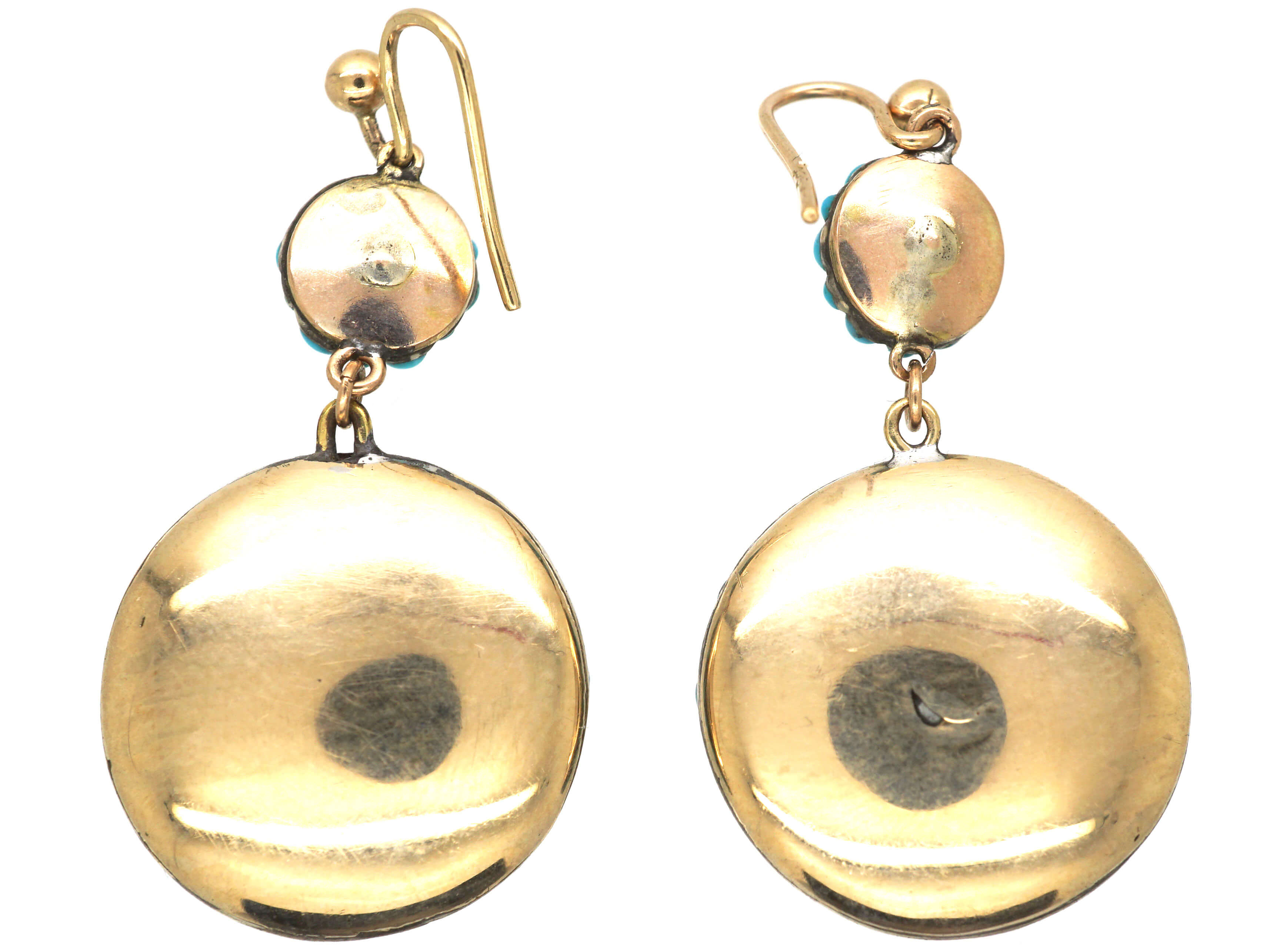 Victorian Pave Set Drop Earrings