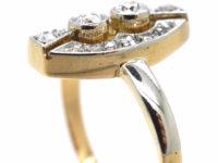 Art Deco 14ct Gold & Diamond Ring