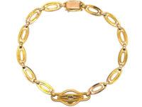 Art Deco 18ct Gold & Diamond Bracelet