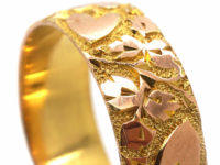 Edwardian 9ct Gold Wedding Band with Hearts Motif