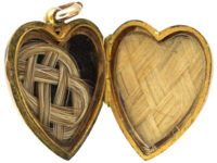 Edwardian Heart Shaped 9ct Back & Front Locket set with Three Natural Split Pearls