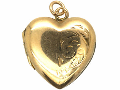 Edwardian 9ct Back & Front Heart Shaped Locket
