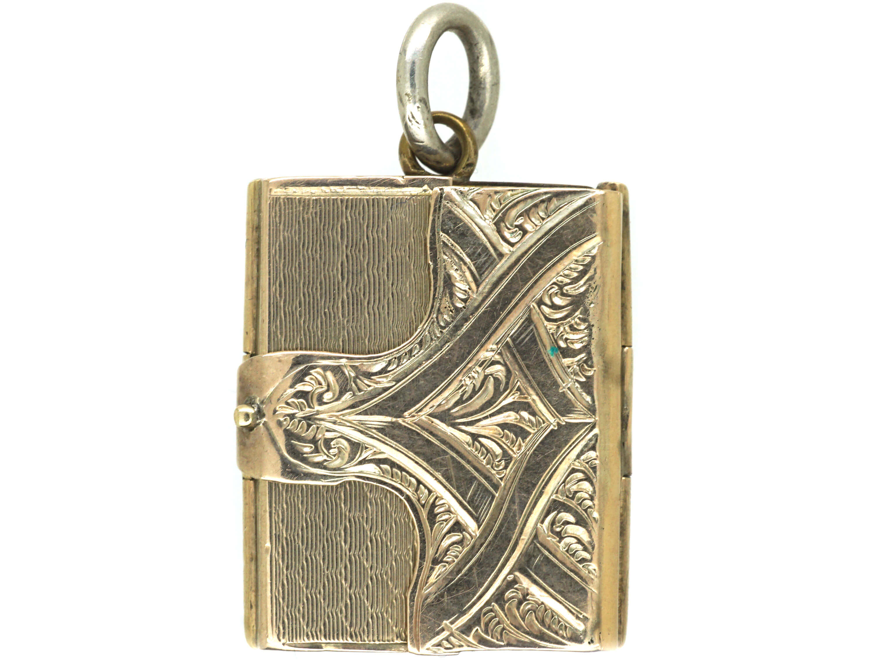 Early Victorian 9ct Gold Opening Book Locket