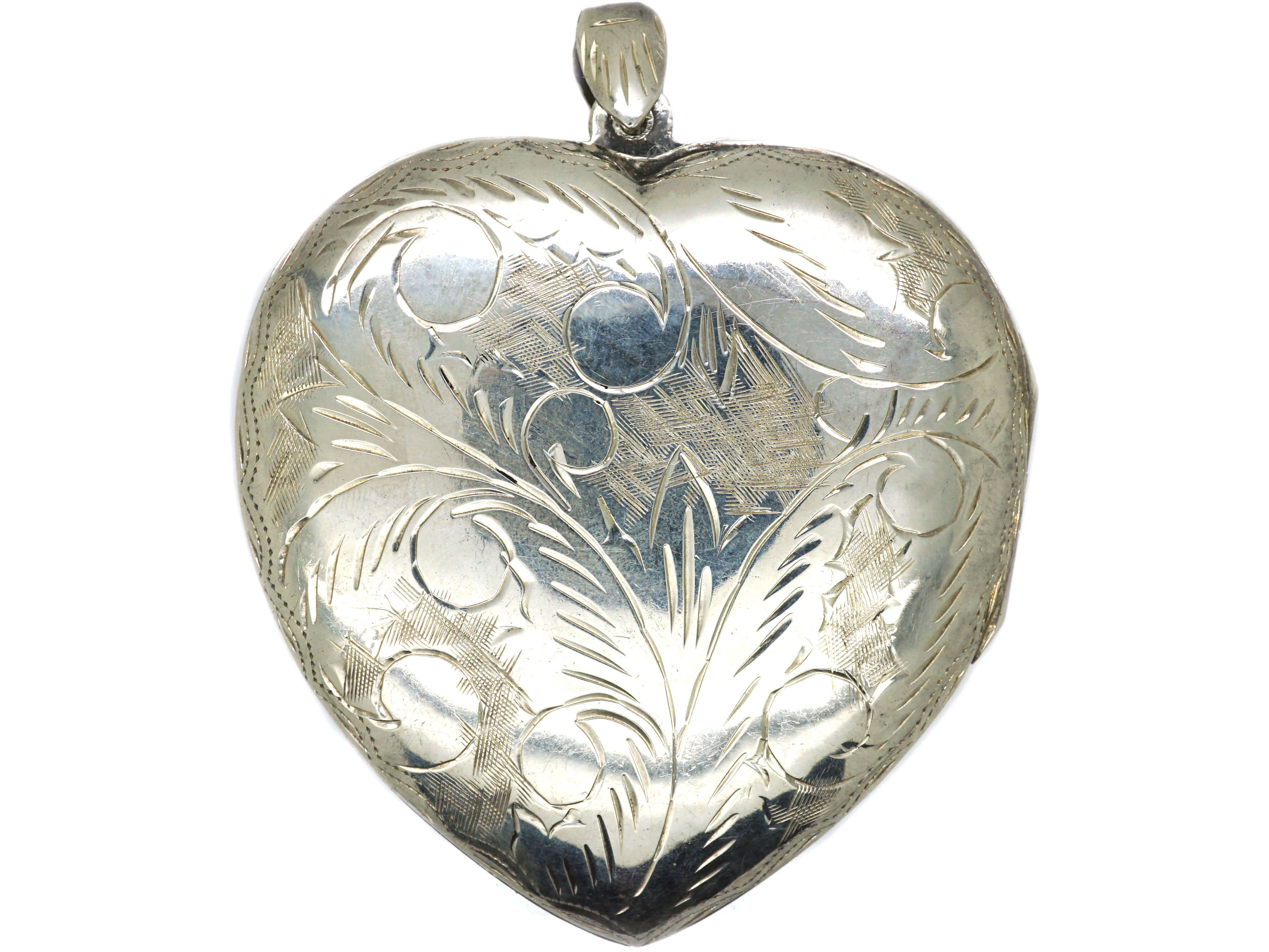 Large Silver Heart Shaped Locket
