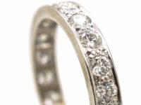 18ct White Gold & Diamond Eternity Ring
