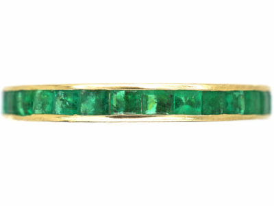 Art Deco 14ct Yellow Gold & Emerald Eternity Ring