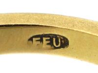 18ct Gold & Diamond Chevron Ring