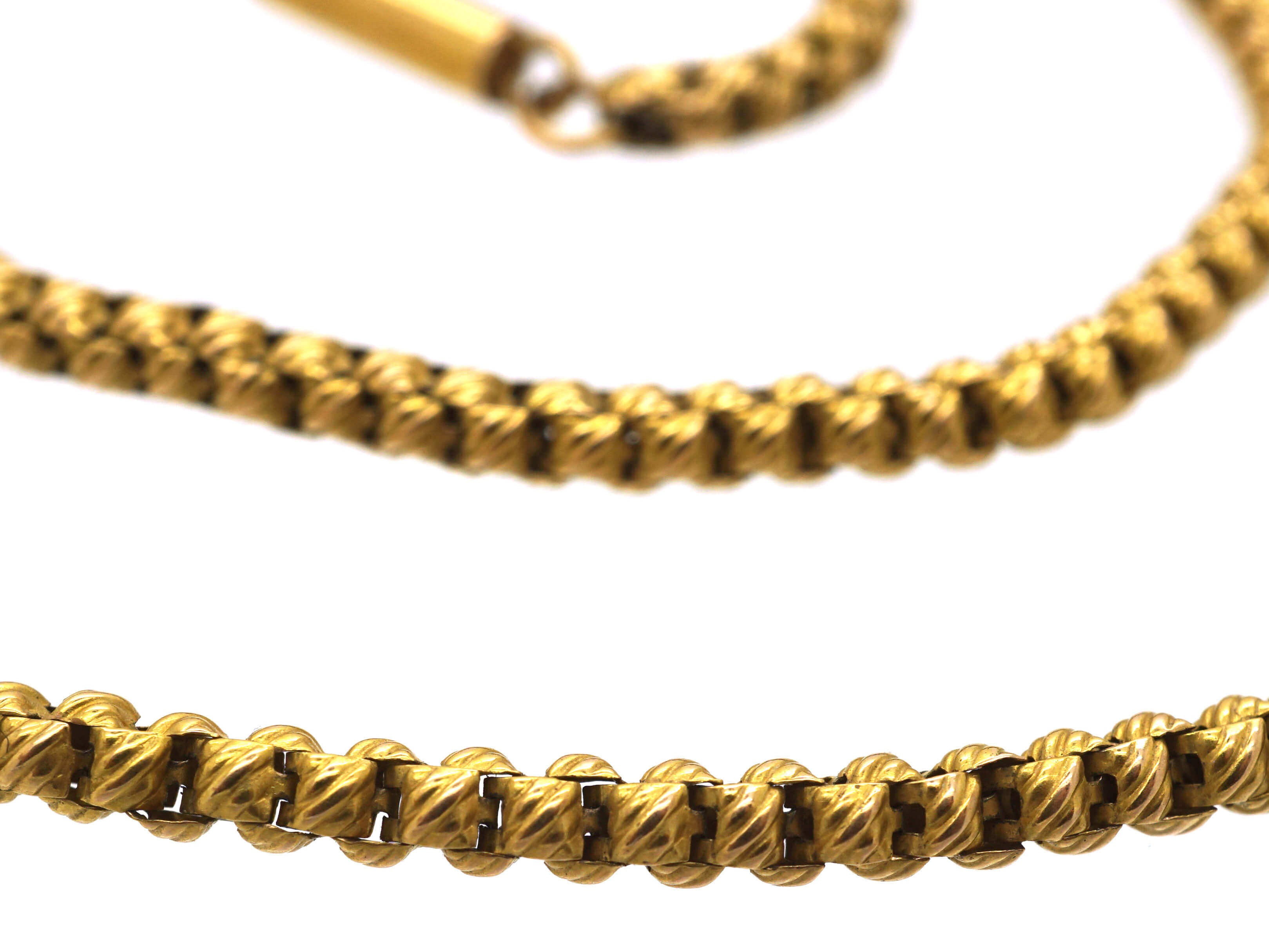 Victorian 15ct Gold Ornate Links Chain