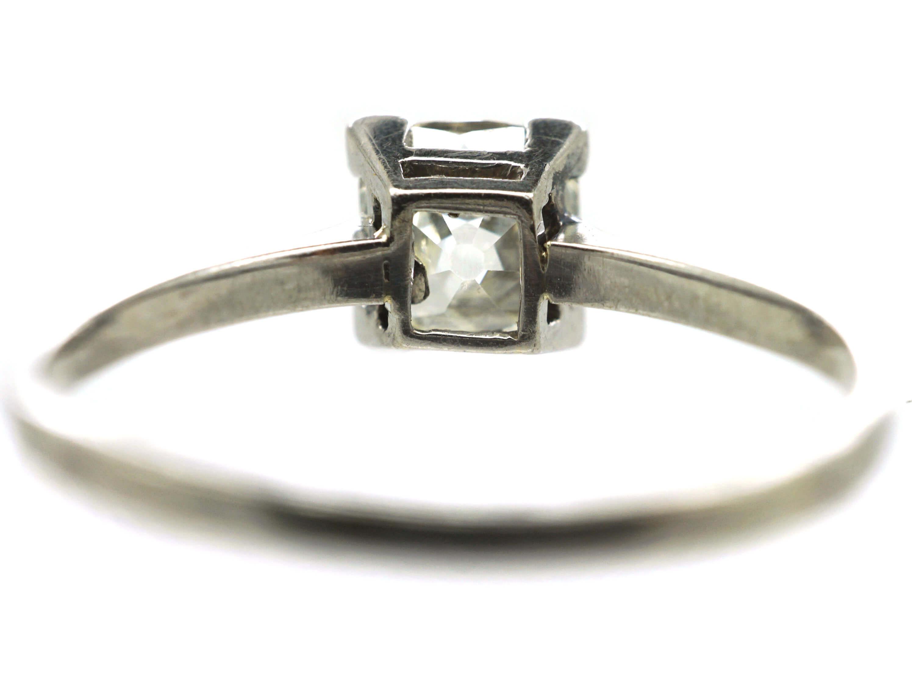 Art Deco Platinum& Diamond Solitaire Ring