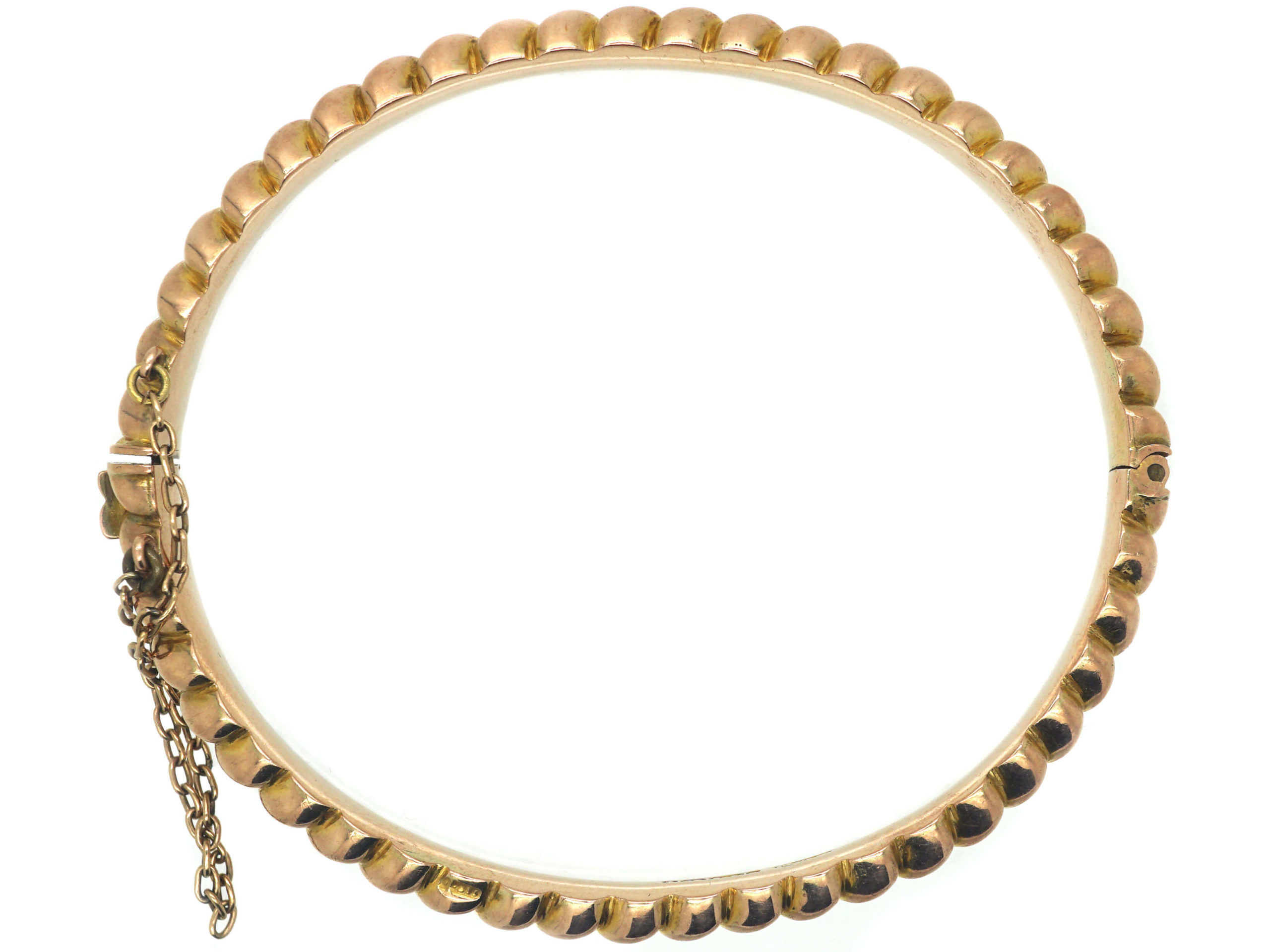 Victorian 9ct Gold Knot Design Bangle