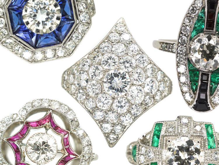 Spotlight: Art Deco Engagement Rings