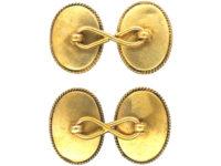 Victorian 15ct Gold Cabochon Garnet Cufflinks