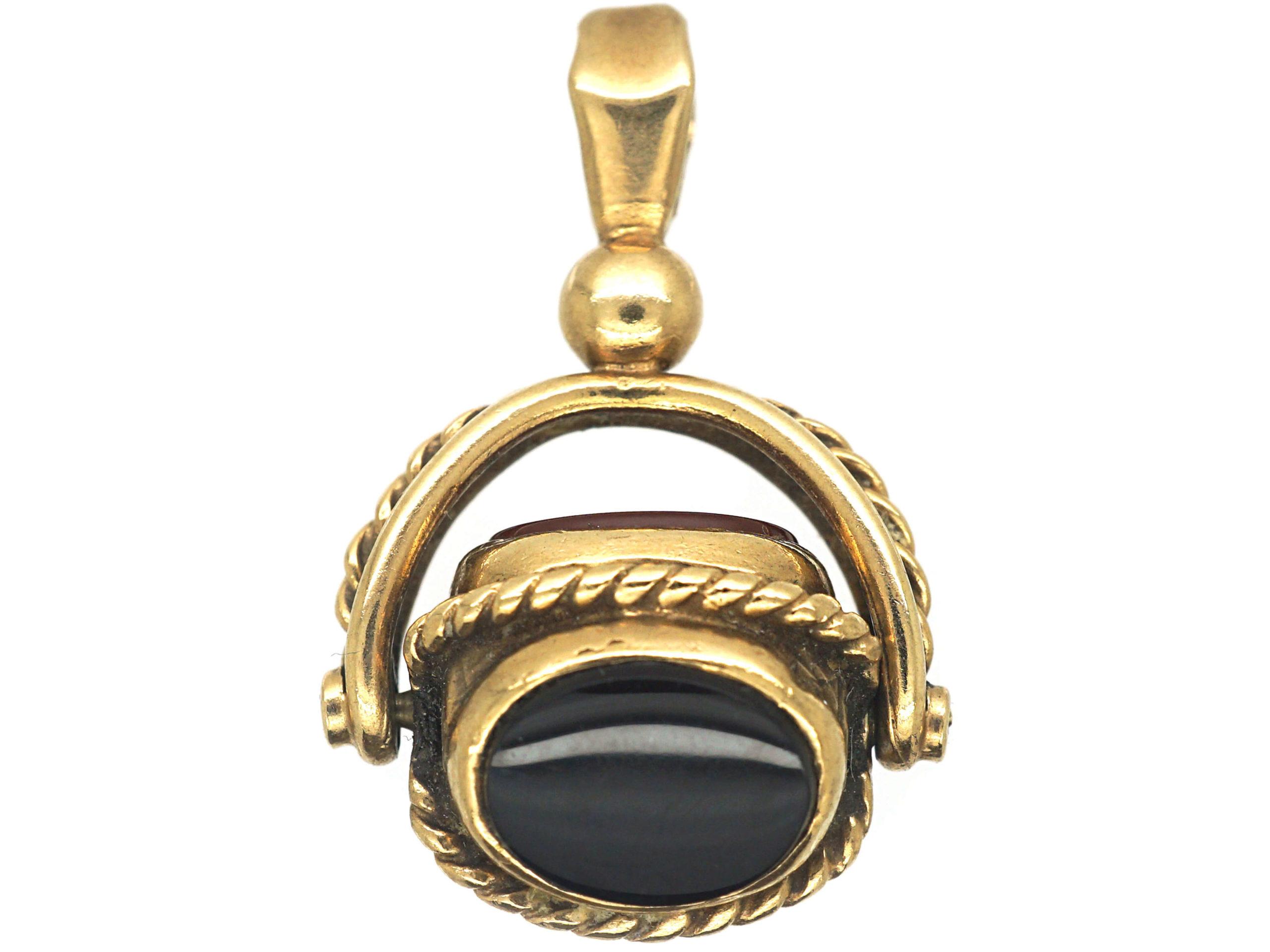 9ct Gold Triple Swivel Seal