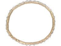 Art Deco 18ct Gold, Platinum & Diamond Articulated Line Bracelet