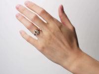 Victorian 18ct Gold Horseshoe Shape Ring set with Diamonds